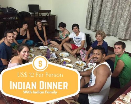 Dinner with an Indian family